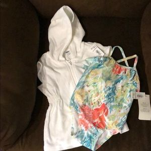 Old Navy Swim Cover Up and Floral Bathing Suit